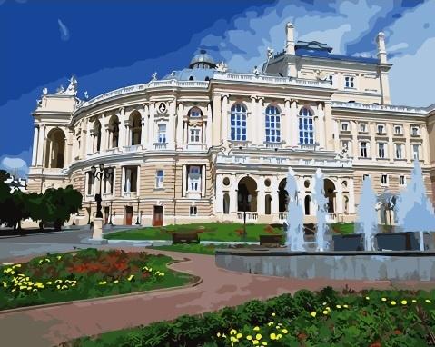 Картина по номерам 40x50 Одесский национальный академический театр оперы и балета
